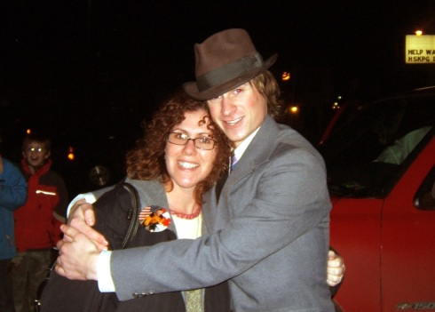 Bob and his teacher, Erin Berndt (Winterfest 2005)