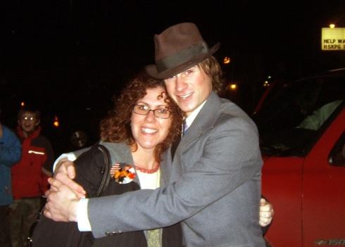 Bob and his teacher, Erin Berndt (Winterfest 2005)