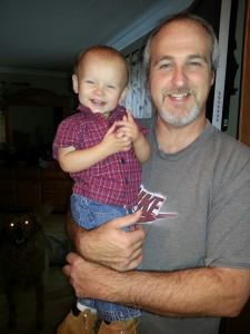 Bentley and Grandpa Gary